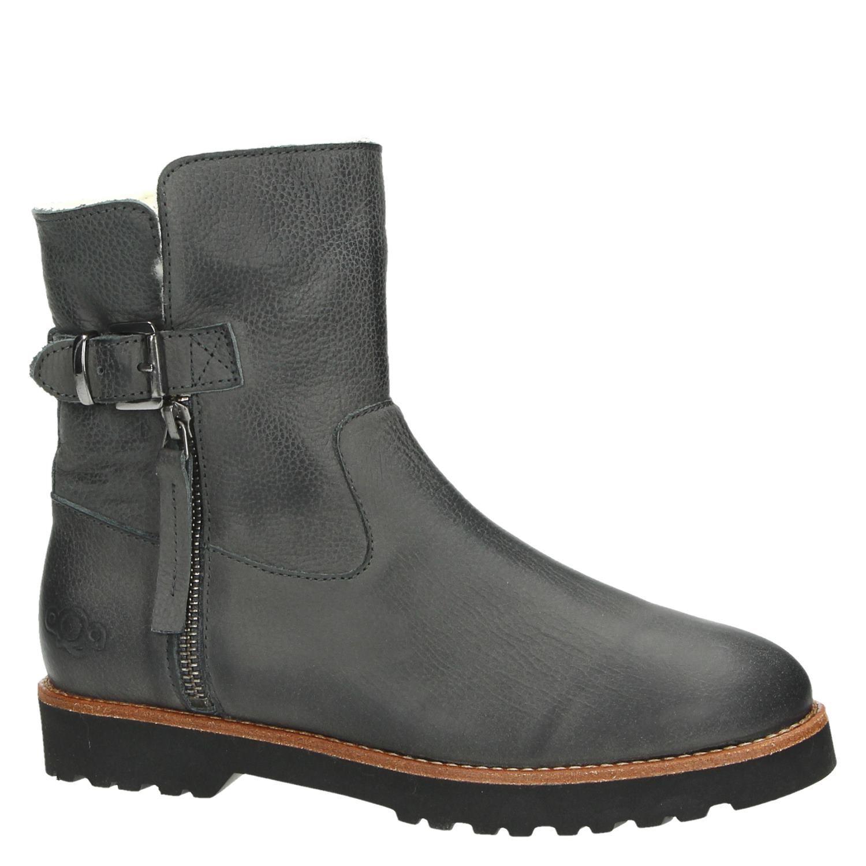 Chaussures Gris Aqa Avec Fermeture À Glissière Pour Les Femmes BZD7N