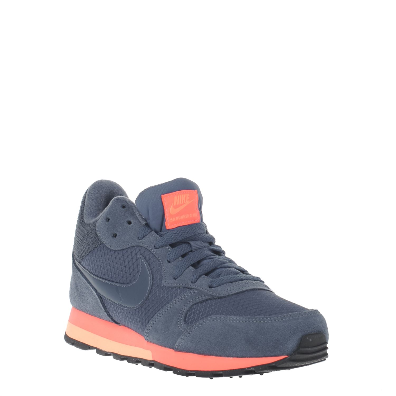 Nike MD Runner 2 dames hoge sneakers blauw