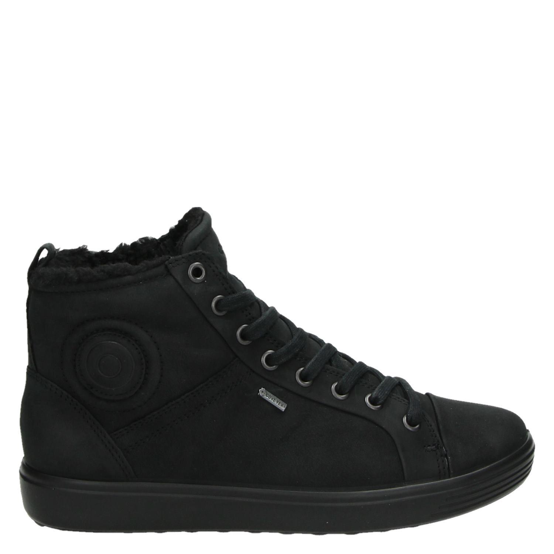 Ecco Mous 7 Hautes Chaussures Noires AyOQhNu