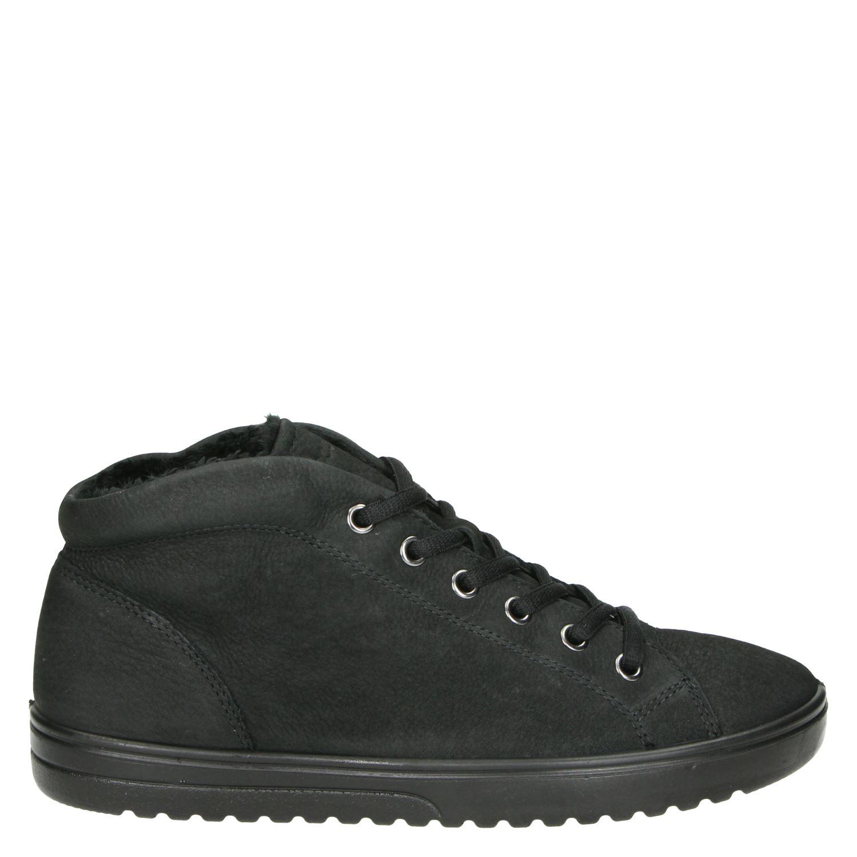 Ecco Fara Hoge sneakers voor dames Zwart Nelson.nl