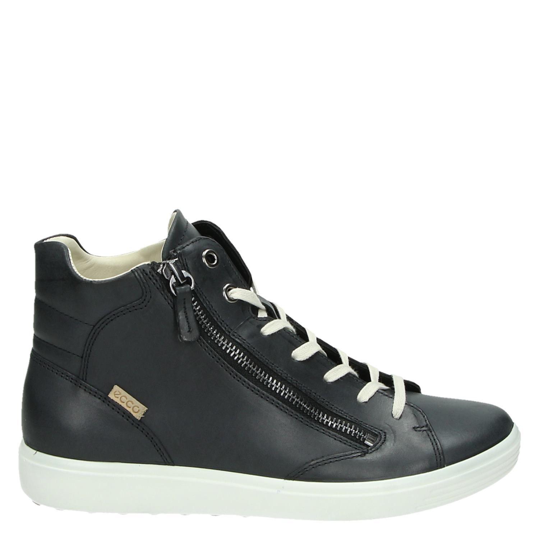 Ecco Soft 7 hoge sneakers zwart