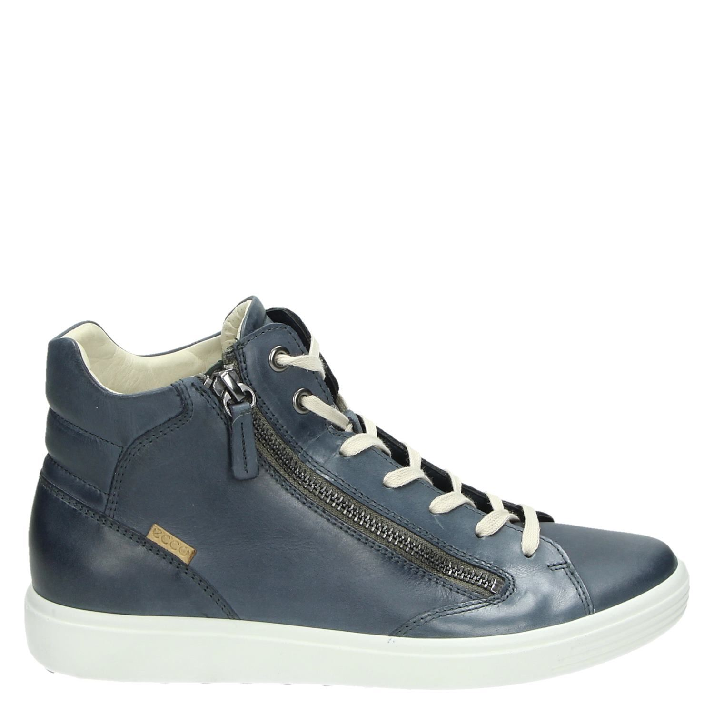 Soft Sneakers Dames Ecco 7 Hoge Blauw dg8gIqp