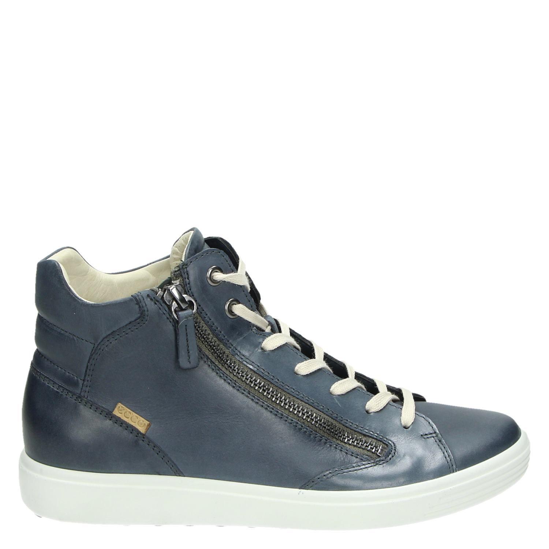 Blauw Ecco Dames Hoge Soft Sneakers 7 BX8qwXx6r