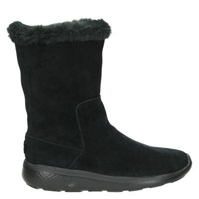 Skechers dames laarzen zwart