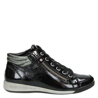 Ara dames hoge sneakers zwart