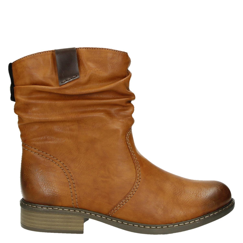 254f4e188a1 Rieker dames rits- & gesloten boots cognac