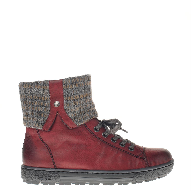Chaussures Rouges Rieker Avec Fermeture Éclair Pour Les Femmes 5470jU