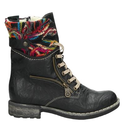 Rieker dames boots zwart