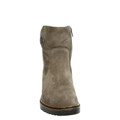 Jenny dames rits- & gesloten boots Taupe