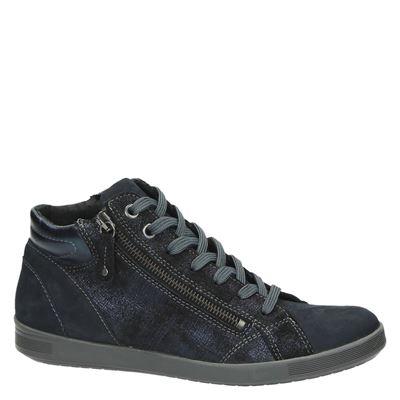 Nelson dames hoge sneakers Blauw