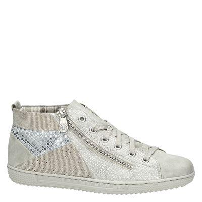 Rieker dames hoge sneakers Wit