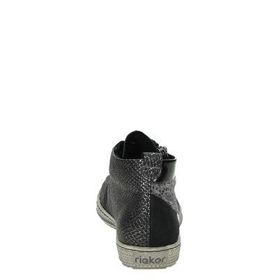 Rieker dames lage sneakers Zwart