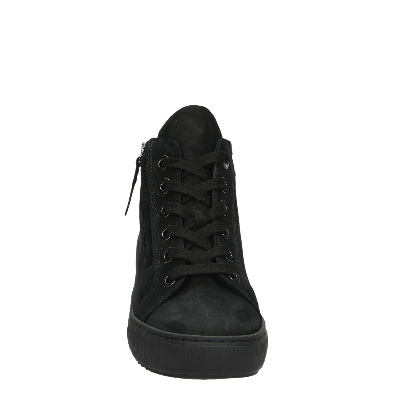 807a8fc1b6e Gabor dames hoge sneakers zwart