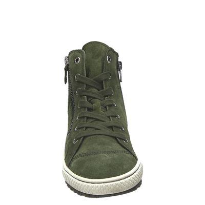 Gabor dames hoge sneakers Groen