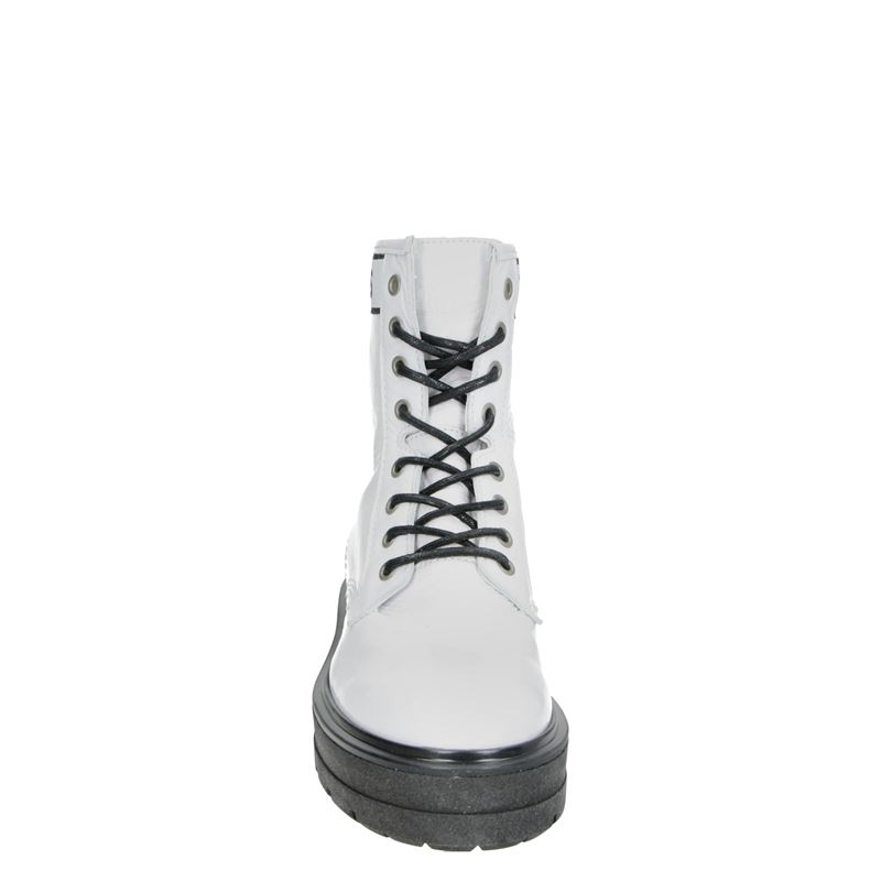 Tommy Jeans Patent Leather - Veterboots - Wit