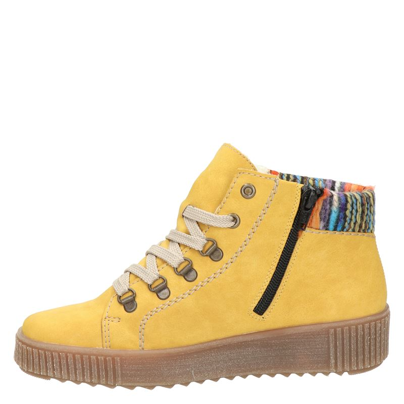 Rieker - Hoge sneakers - Geel