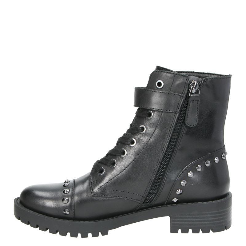 Guess Hayleigh - Rits- & gesloten boots - Zwart