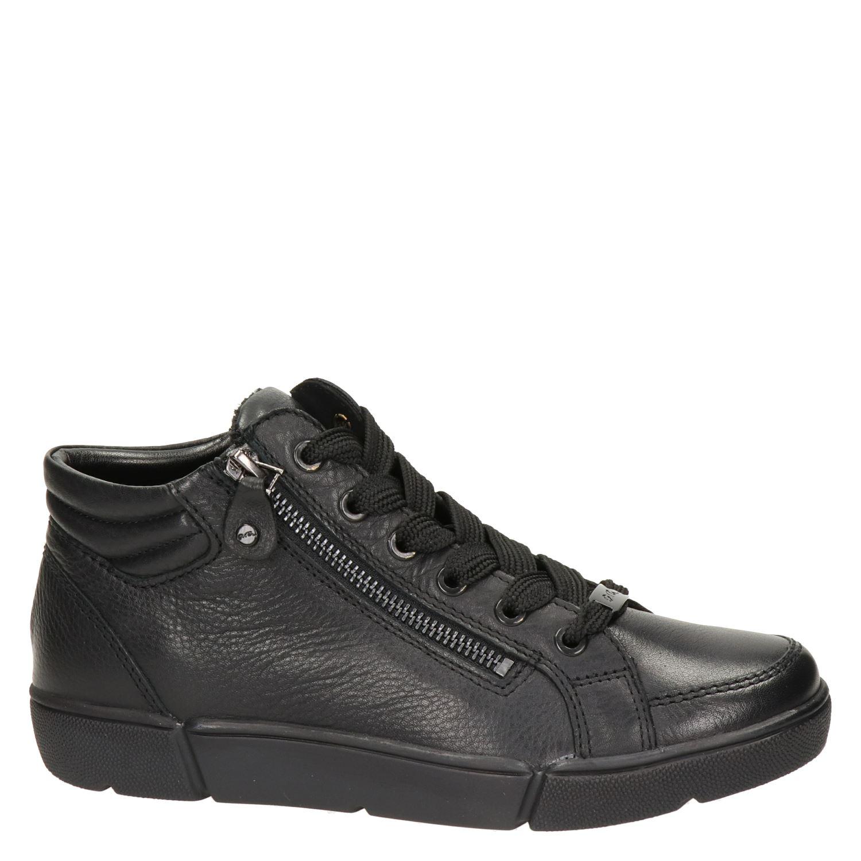 Ara Rome dames lage sneakers zwart