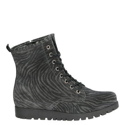 Waldläufer dames boots grijs