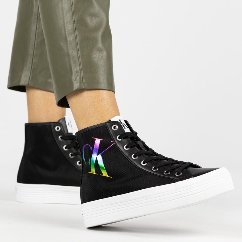 Calvin Klein Vulcanized - Platform sneakers - Zwart