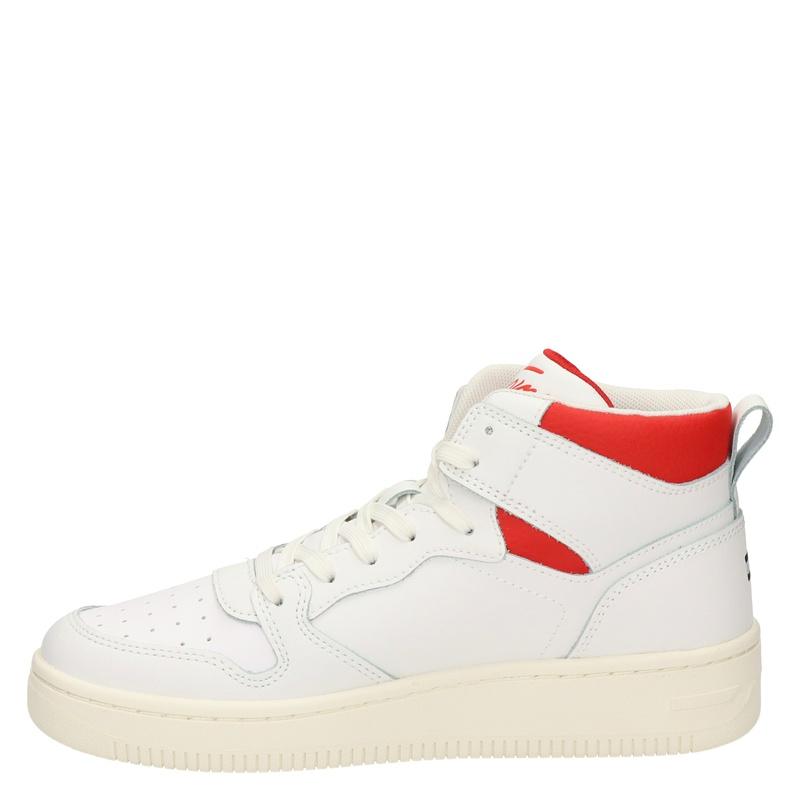 Tommy Hilfiger Sport Mid cut basket - Hoge sneakers - Ecru