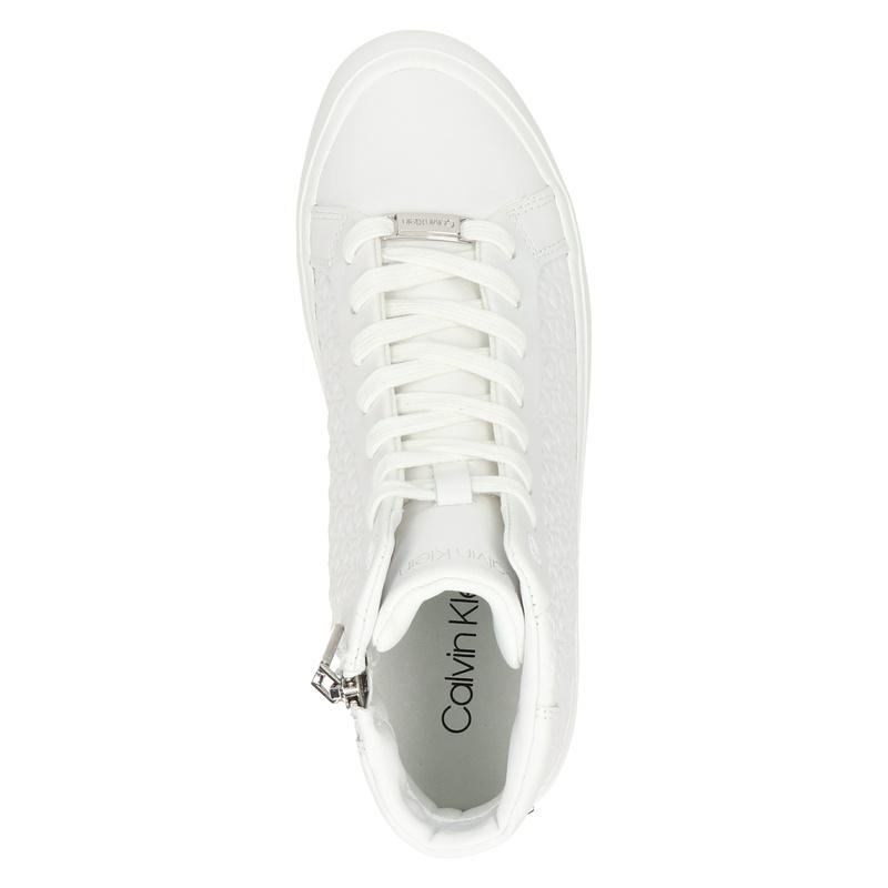 Calvin Klein - Hoge sneakers - Wit