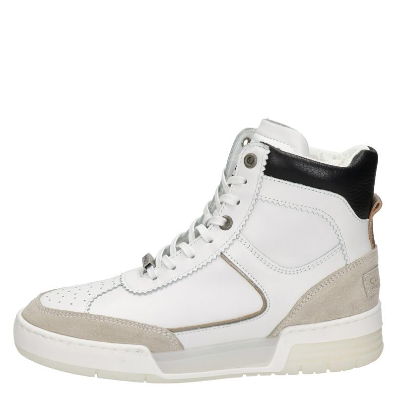 Shabbies Amsterdam - Hoge sneakers - Wit