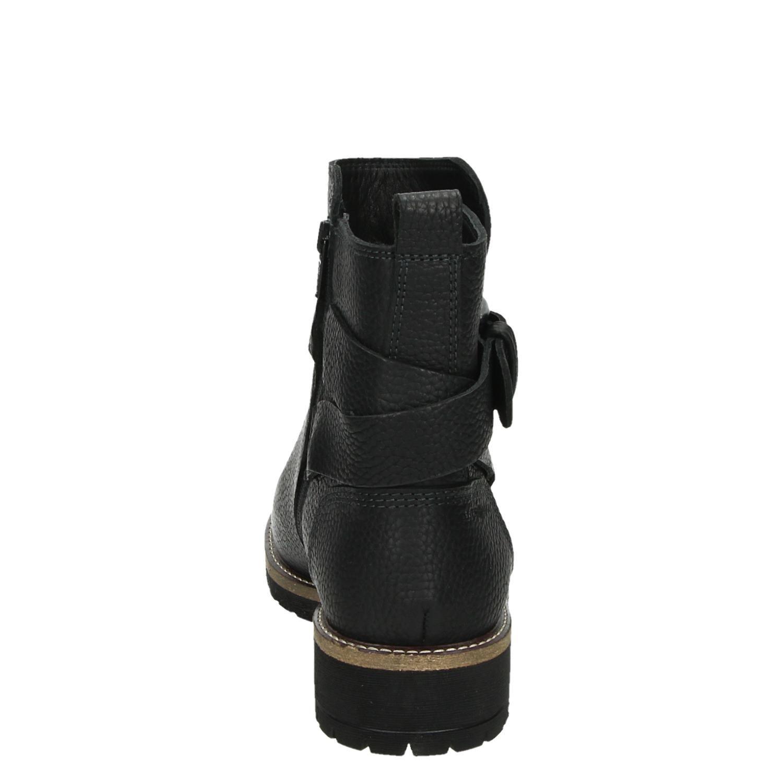 Elaine Dames Boots Normaal Ritsamp; Ecco Zwart Gesloten Qshdrt