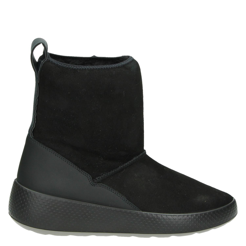 Chaussures Ecco Noir Avec Bloc Poche Talon Pour Femmes iDiptvqWC