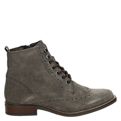 Nelson veterboots taupe