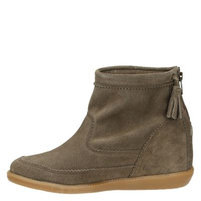 Nelson dames rits- & gesloten boots Taupe