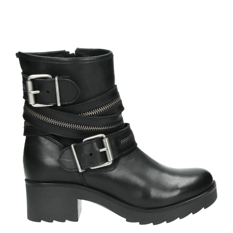 Ps Poelman Chaussures Noir Avec Fermeture Éclair Pour Les Femmes c0zVC