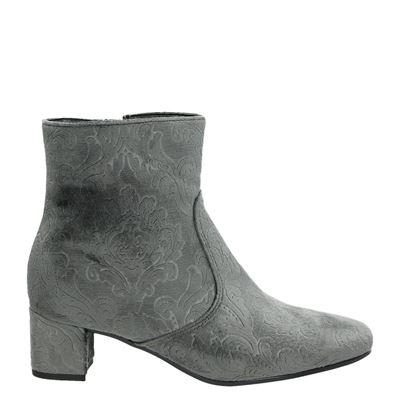 Jenny dames enkellaarsjes grijs