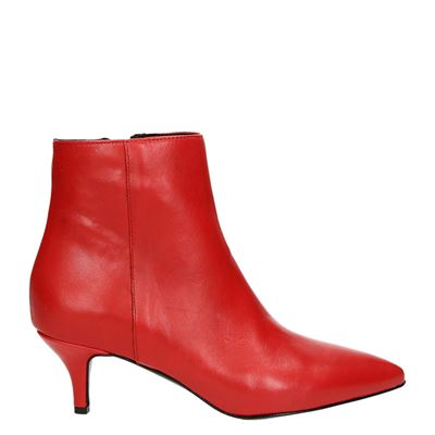 Nelson dames enkellaarsjes rood