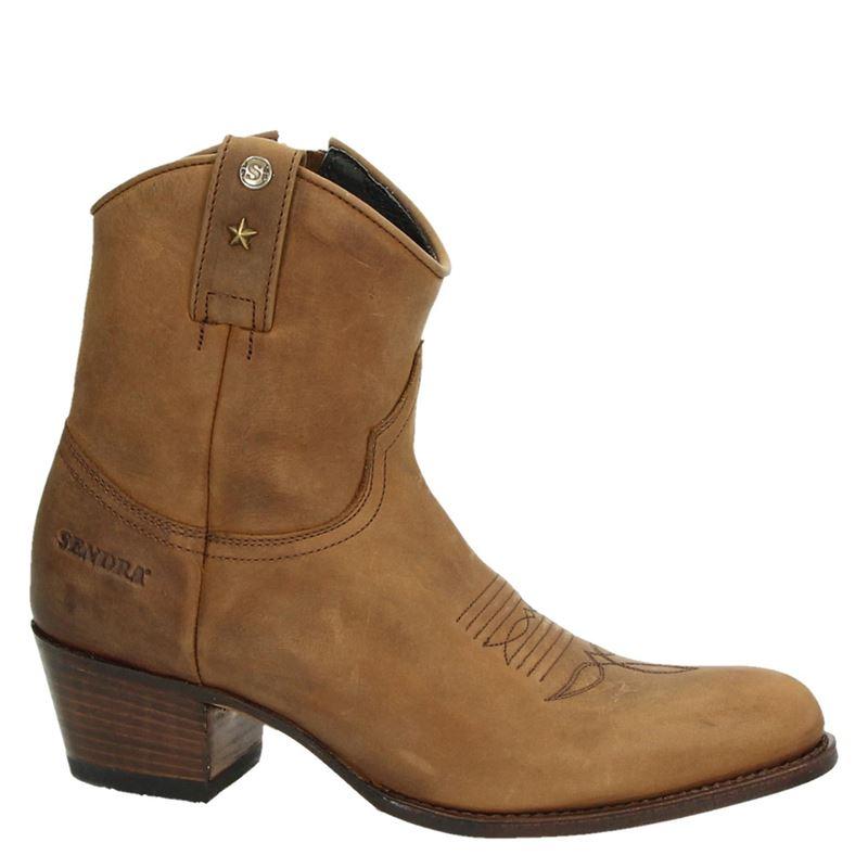 Sendra 15861 Deborah - Cowboylaarzen voor dames - Cognac  03214578