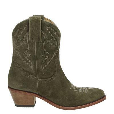 Perlita Peaches dames laarzen groen