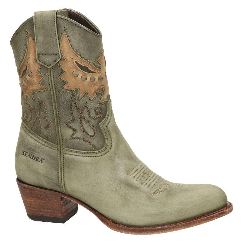 Sendra 16227 Debora - Cowboylaarzen - Groen