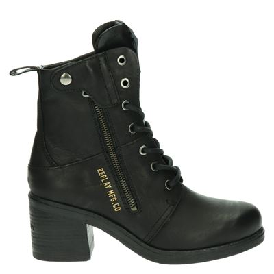 Replay dames veterboots zwart