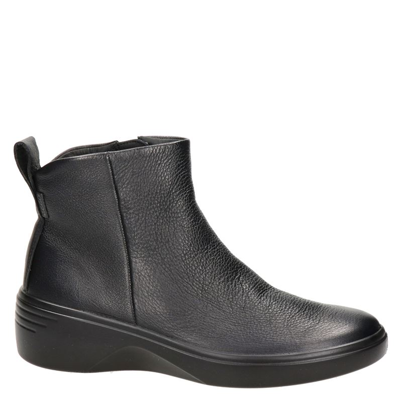 Ecco Soft 7 wedge - Rits- & gesloten boots - Zwart