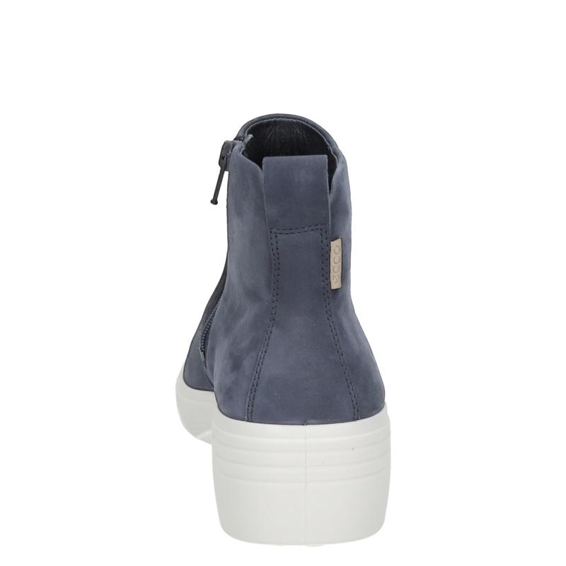 Ecco Soft 7 wedge - Rits- & gesloten boots - Blauw