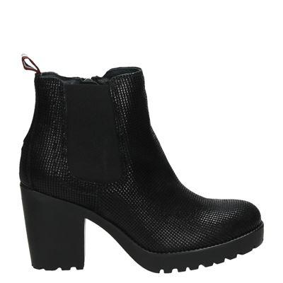 Tommy Jeans dames enkellaarsjes zwart