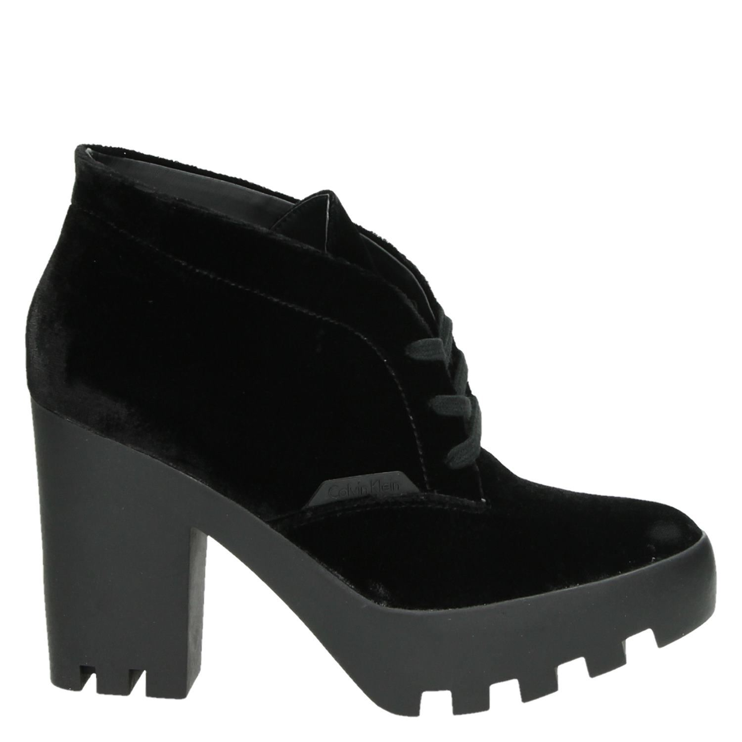 Calvin Klein Bottines En Velours Noir Stevie 8FTsusq
