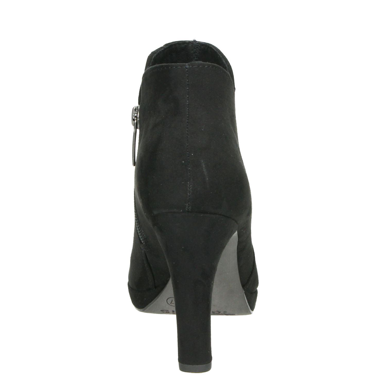 Zwarte Tamaris enkellaarsjes voor €59,99