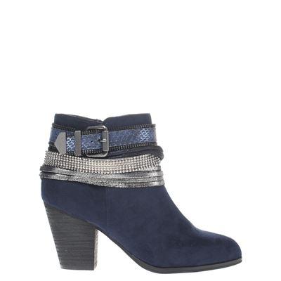 La Strada dames enkellaarsjes blauw