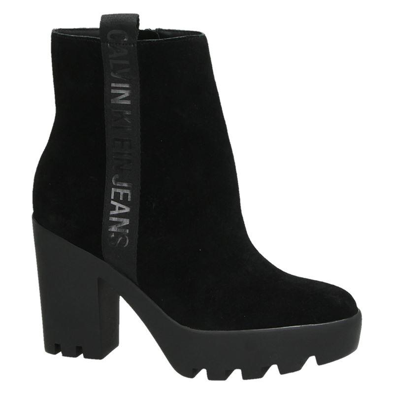 Calvin Klein Serina - Enkellaarsjes - Zwart