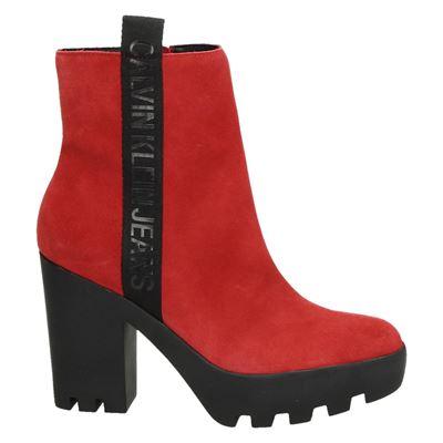 Calvin Klein dames enkellaarsjes rood
