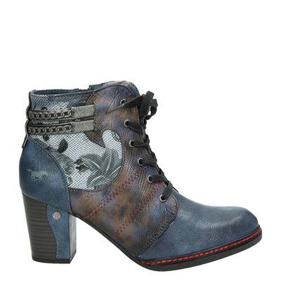 Mustang dames enkellaarsjes blauw