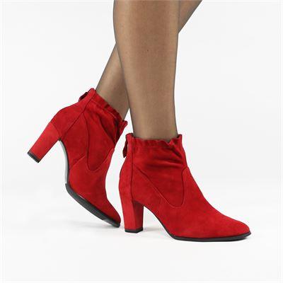Tamaris dames enkellaarsjes rood
