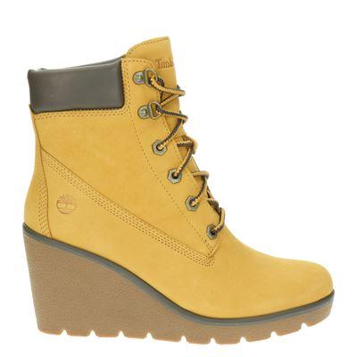 Timberland dames enkellaarsjes geel