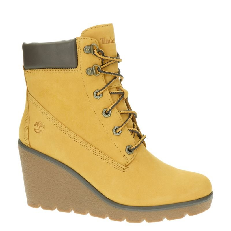 Timberland Paris Height - Enkellaarsjes - Geel